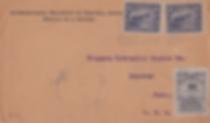 1916   Sobre enviado por la I.R.C.A. a los Estados Unidos