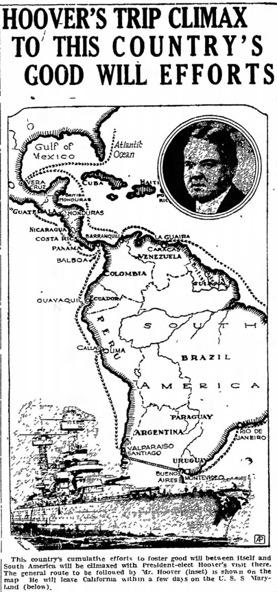 President Hoover 1928 Intinerario Ilustrado