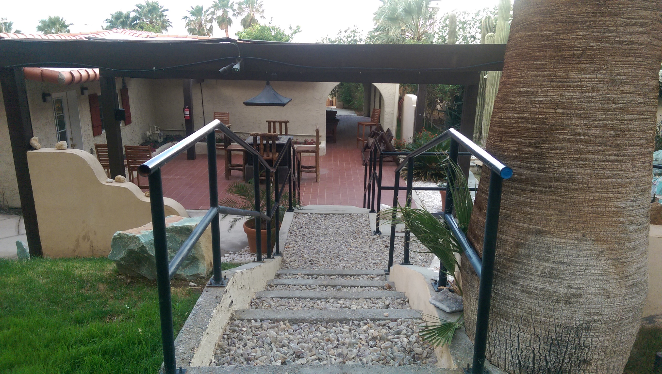 Stairs Down to the Treatment Room