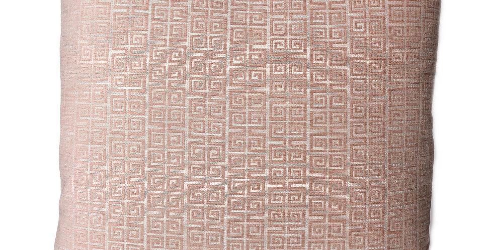 Pink Greek Key Pillow