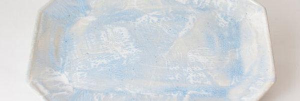 Large Grey Blue Brushstroke Tray