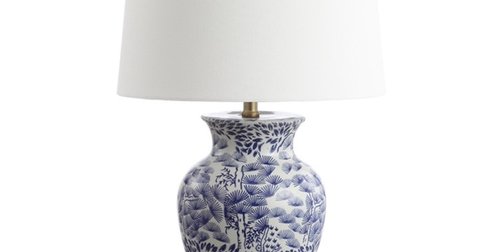 Pair Blue and White Chinoiserie Lamps