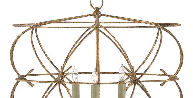 Gold Cage Lantern