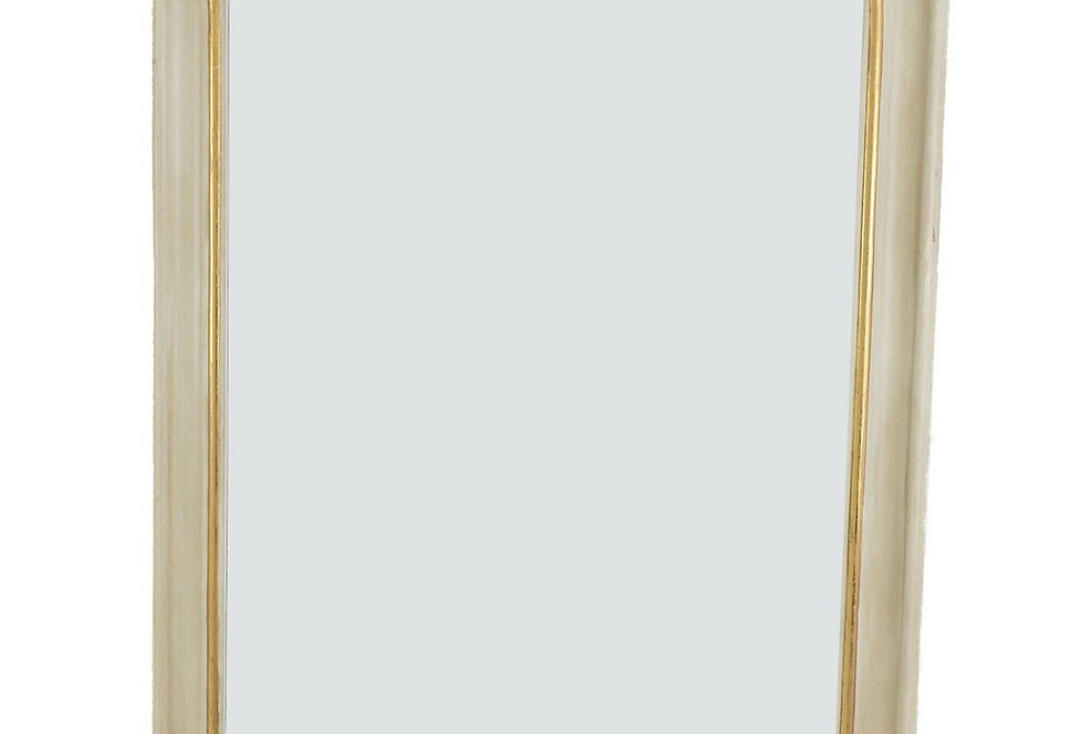 White and Gold Louis Philippe Wall Mirror
