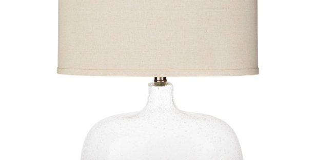Classic Clear  Seed Glass Lamp