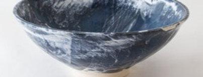 Blue Abstract Medium Bowl