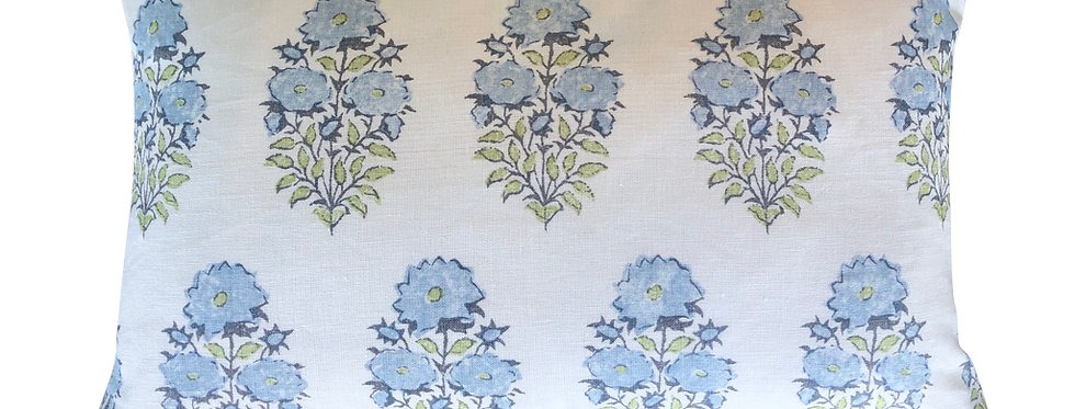Floral Block Print Lumbar