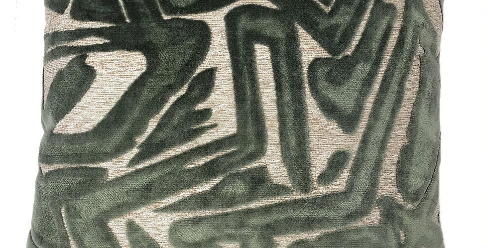 Green Abstract Pillow