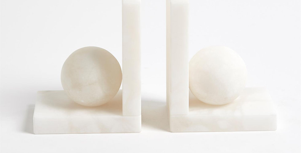 Alabaster Bookends