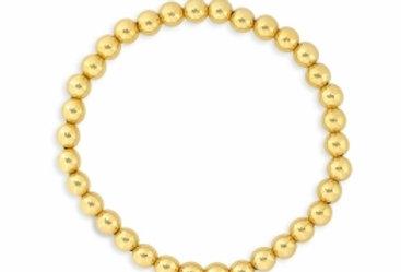 Gold Bead Classic Stretch Bracelet - 5MM