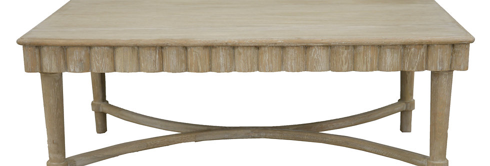 Solid Oak Natural Wood Coffee Table