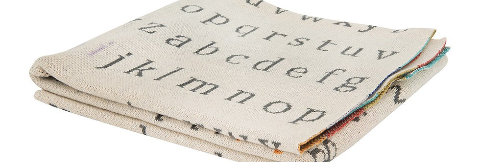 Alphabet Knit Blanket
