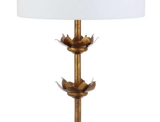 Pair - Gold Floral  Lamp