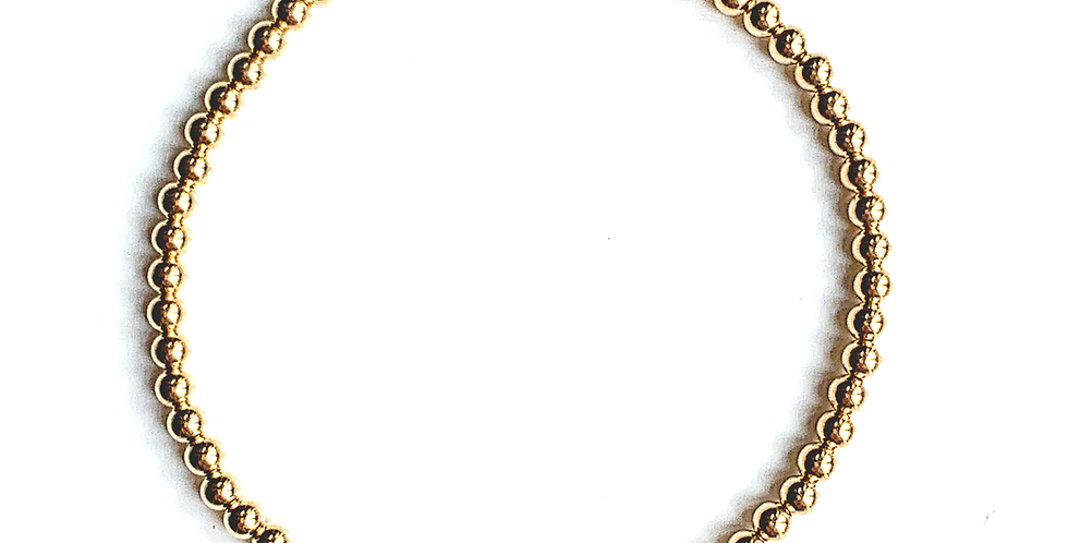 Classic Gold Bracelet with Cross Charm