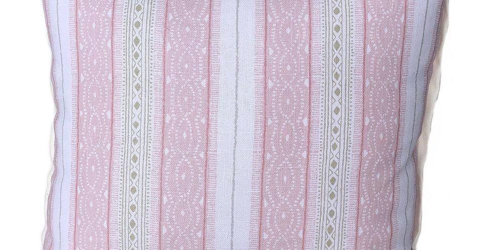 Pink Stripe Pillow Pair