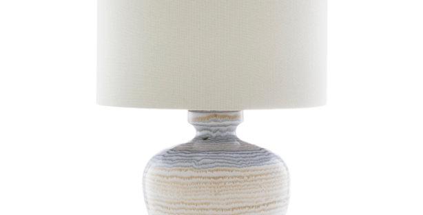 Ceramic Striped Lamp