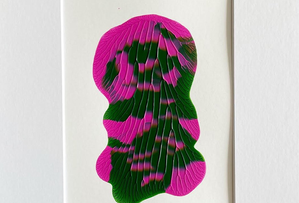 """""""Green and Pink"""" 1    8"""" x 10"""""""