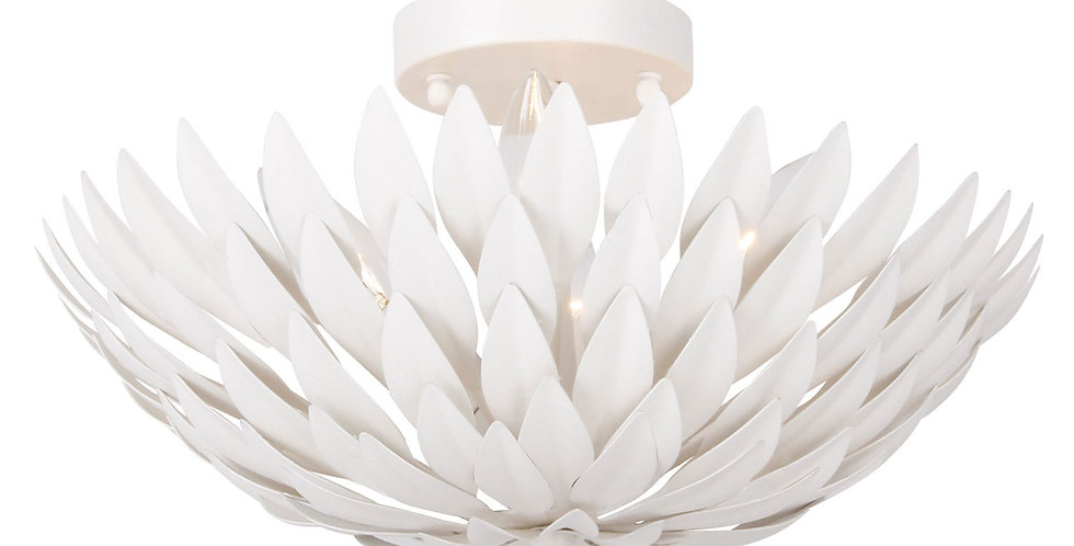 White Leaf Flush Mount