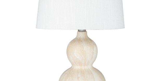 Cream Marble Ceramic Lamp