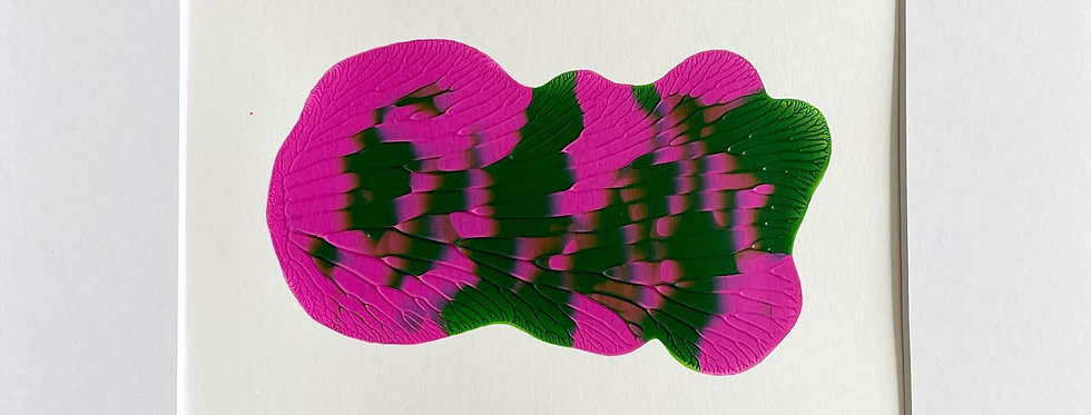 """""""Green and Pink"""" 2  8"""" x 10"""""""