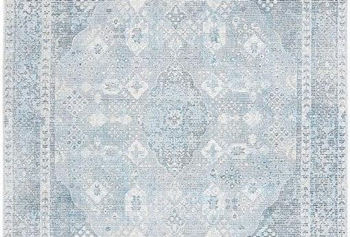 Blue Grey Vintage Hand Loomed Rug