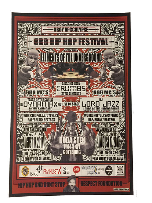 GBG Hip Hop Festival Flyer (reprint)