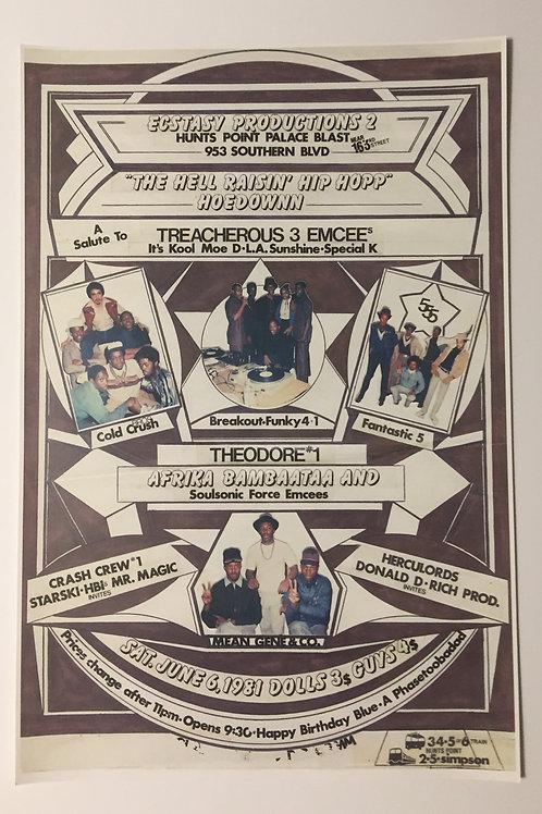 "The Hell Raisin' Hip Hopp"" Hoedown Flyer Reprint (Signed)"