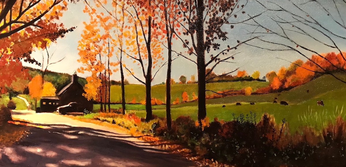 "Pasture View 15"" x 30"" Oil Retail $6,300  Online $5,0"