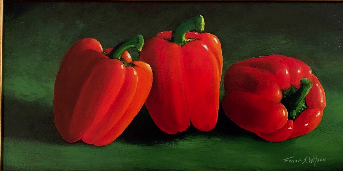 FW Ripe Red Peppers 6_ x 12_ Oil $495