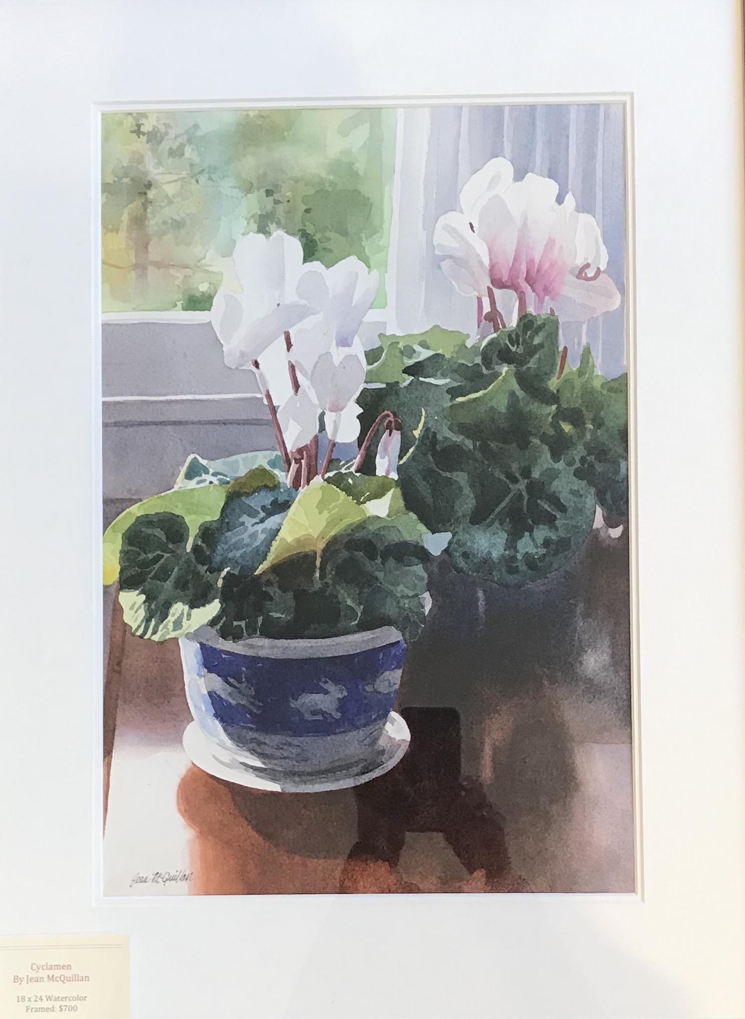 Cyclamen 18_ x 24_ Watercolor $700_ed