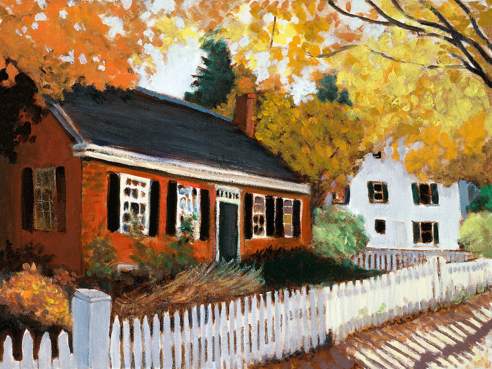"Fall Cottage 12"" x 16"" Oil  Retail $2,000  Online $1,600"