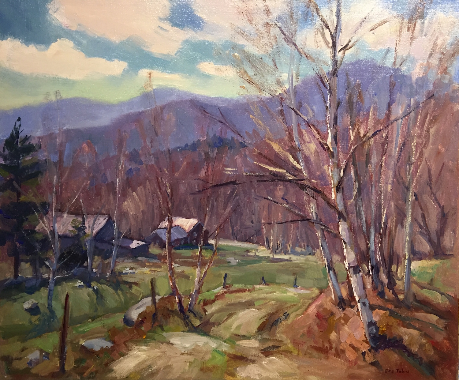 ET Early Spring Sunshine 20x24 oil $3,60