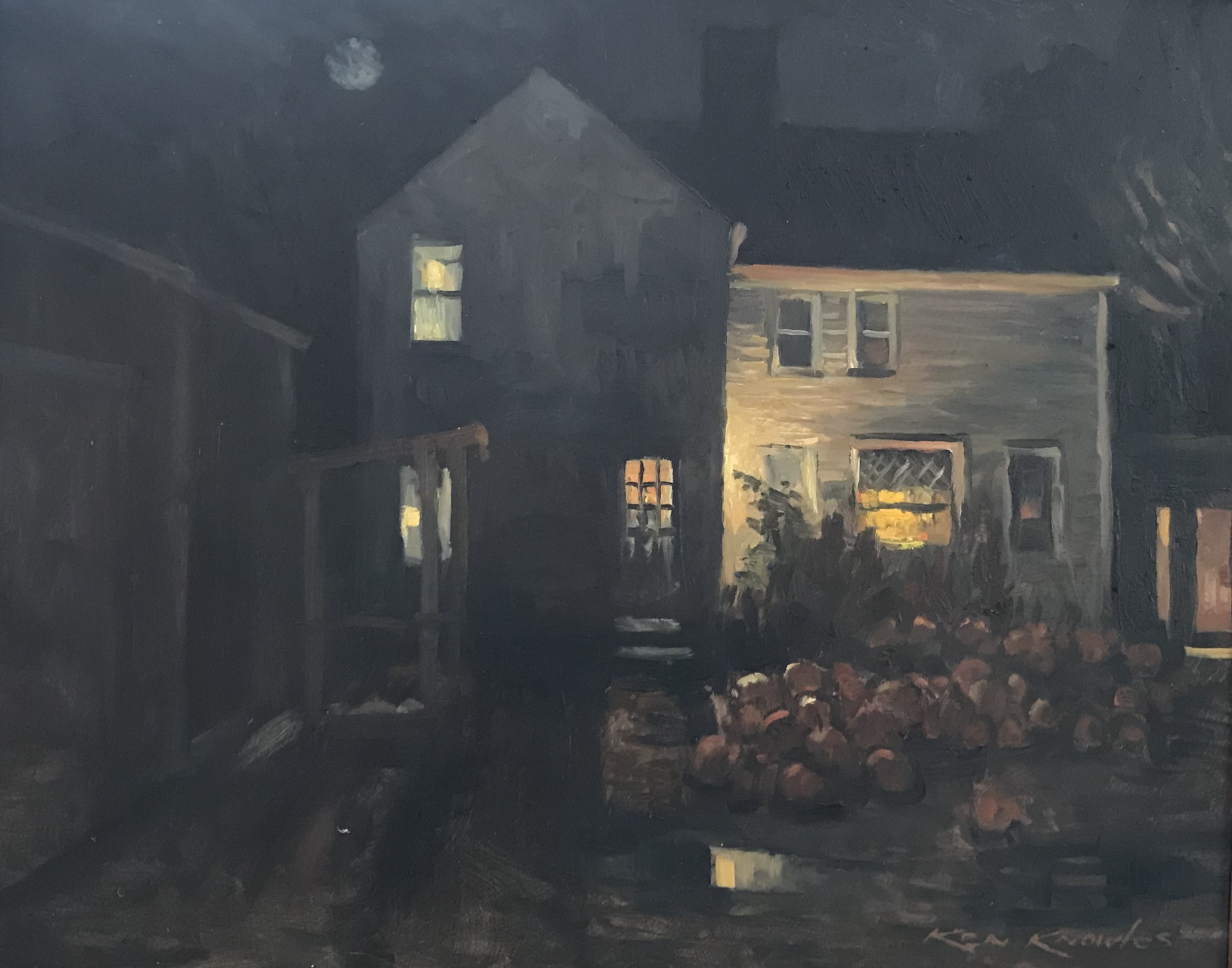 KN Sea View Farm Nocturne 16_x20_ Oil $4
