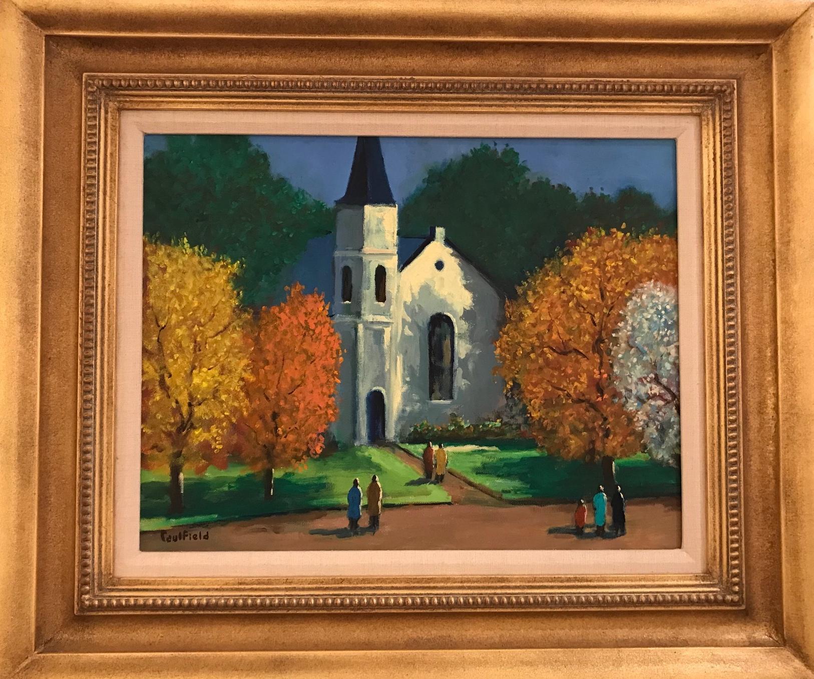 Village in Autumn 14x18 $5500