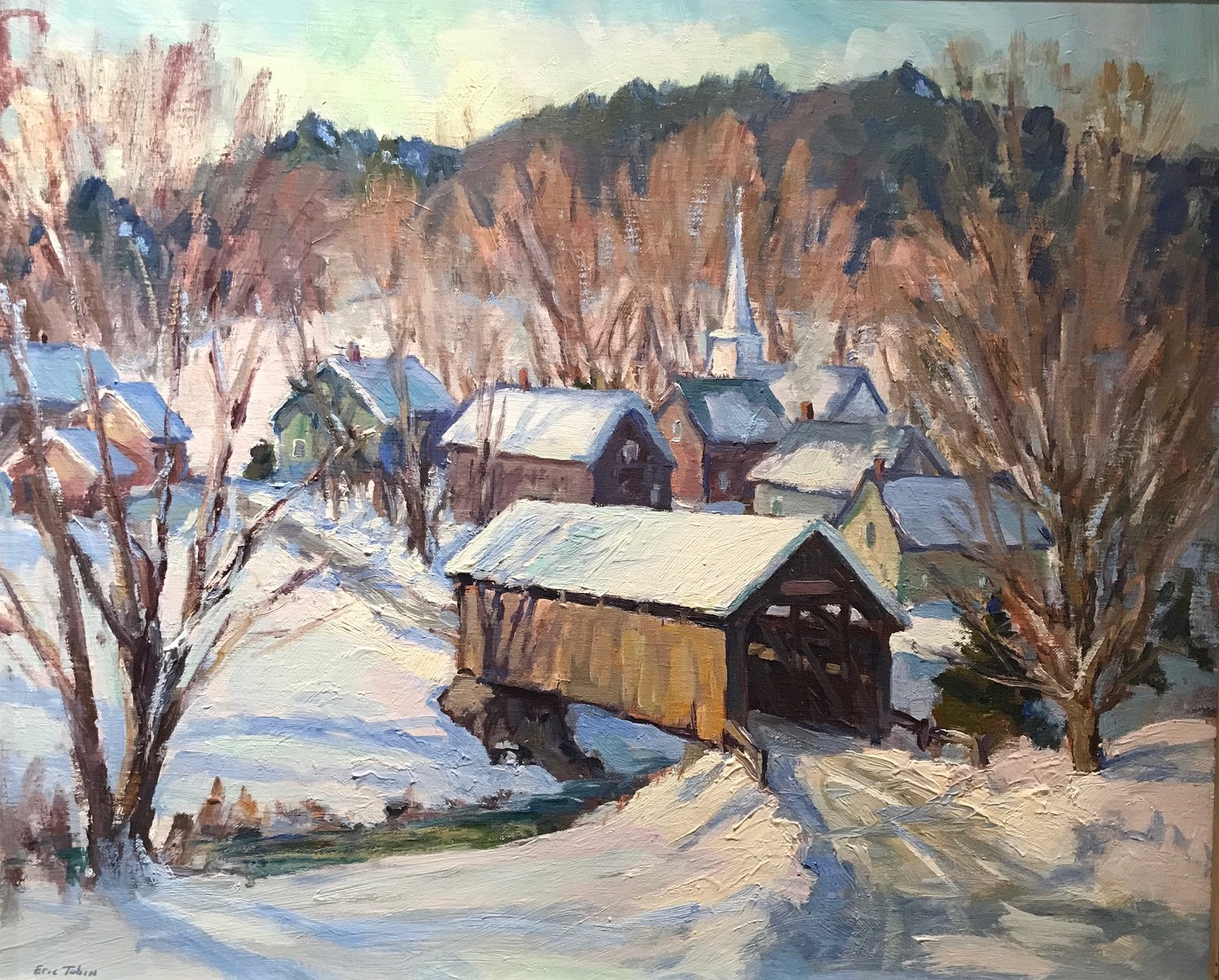 ET Vermont Village 20_ x 24_ Oil $3600