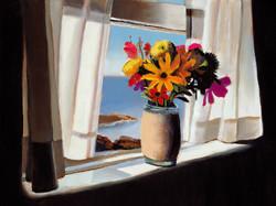"""Monhegan Bouquet 12"""" x 16"""" Oil Retail $2,000  Online $1,600"""