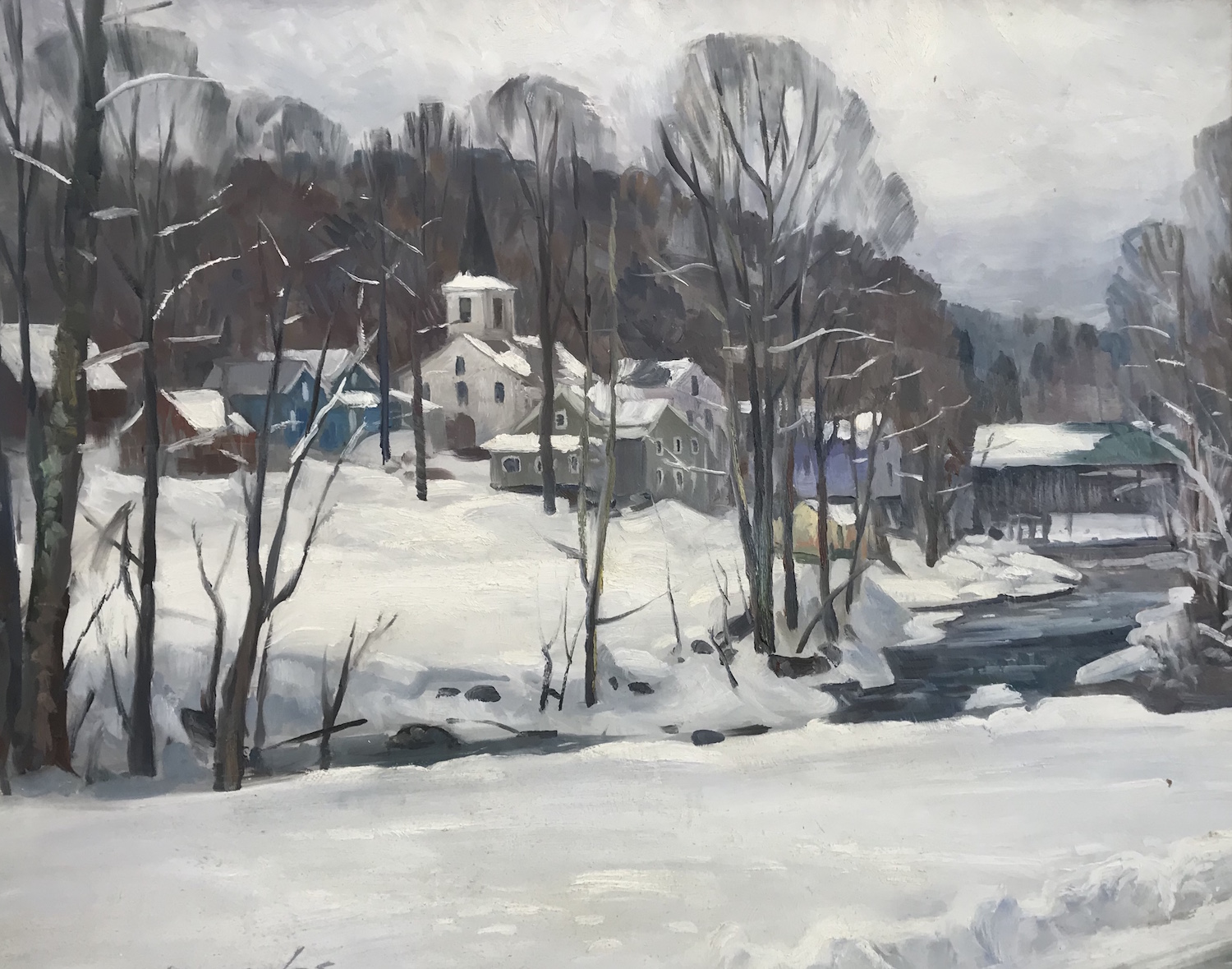 "Winter in Waterville 24"" x 30"" Oil $9000"