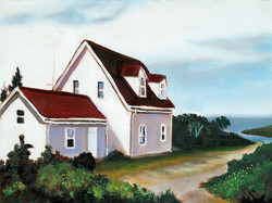 """Light Keepers House 12"""" x 16"""" Oil Retail $2,000  Online $1,600"""