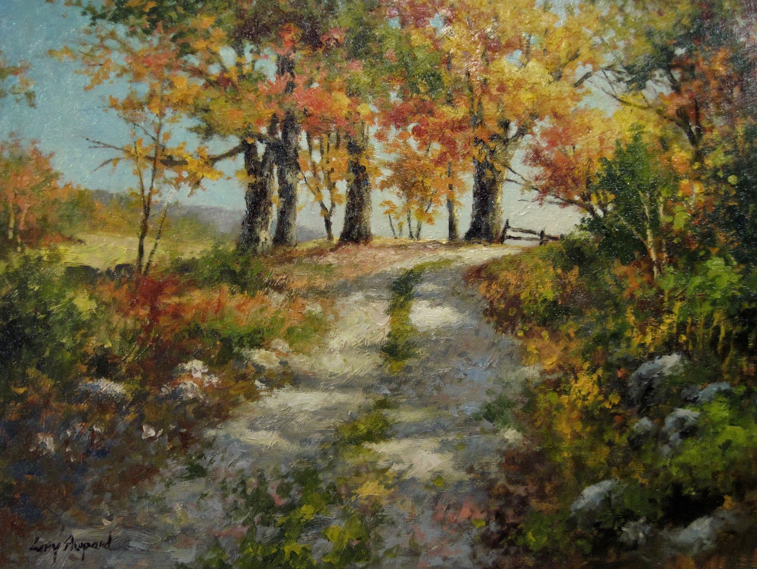 Logging Road 18_ x 24_ Oil $3500