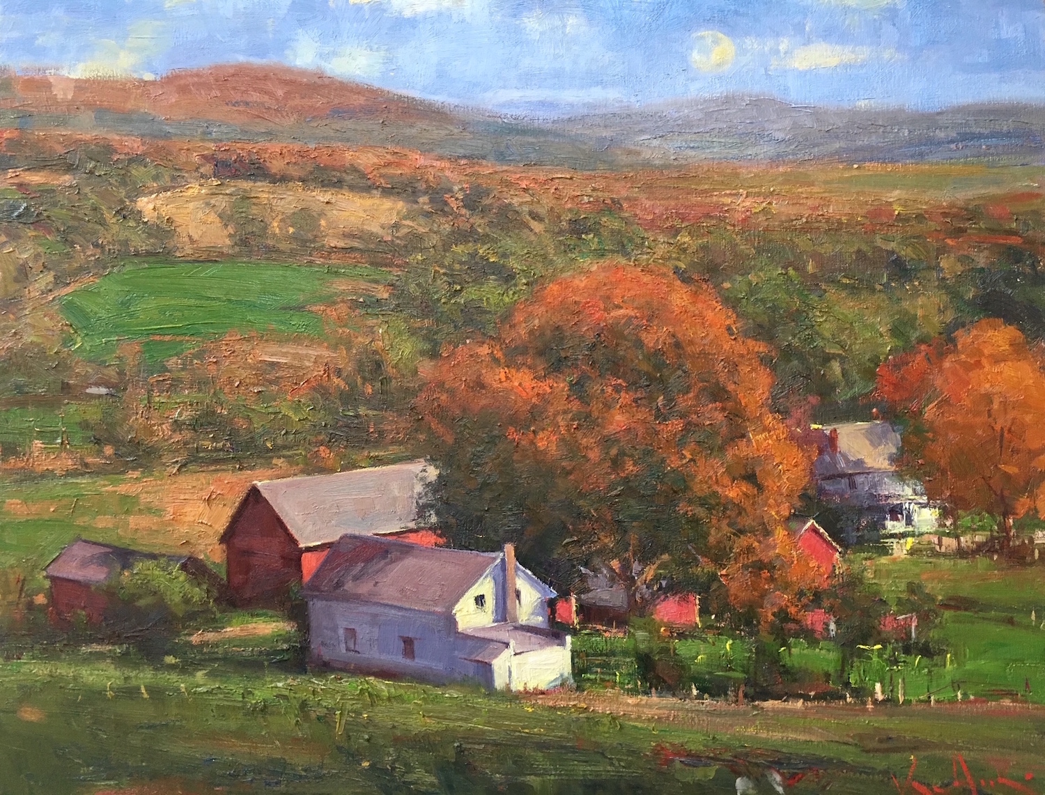 New England Autumn 24_ x 30_ Oil $4,600