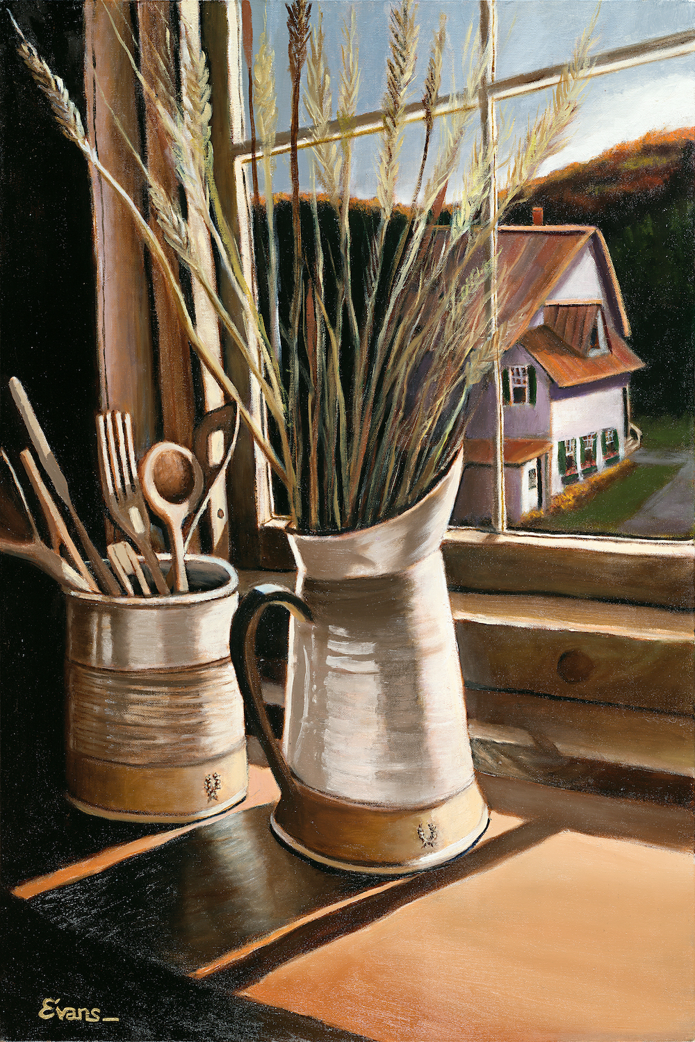 "Farmhouse Pottery 30"" x 20"" Oil Retail $5,700  Online $4,000"