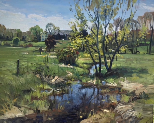 "Springtime Brook 24"" x 30"" Oil $9,000"