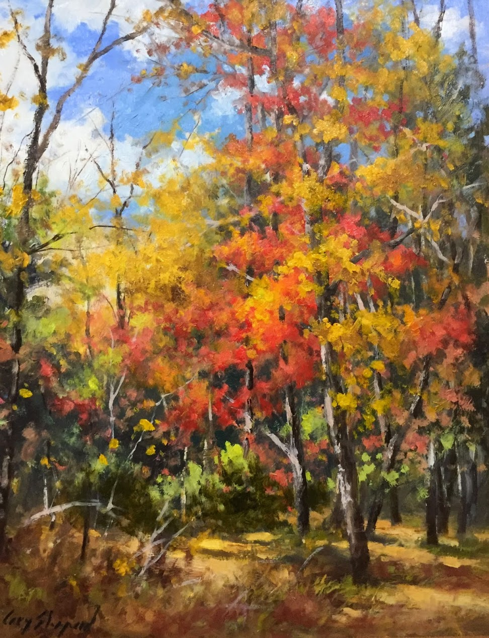 GS October Woods 16x20 oil 2600.