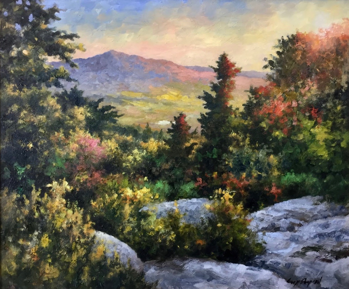GS Mountain Sunset 18_x 24_  oil $3,500.