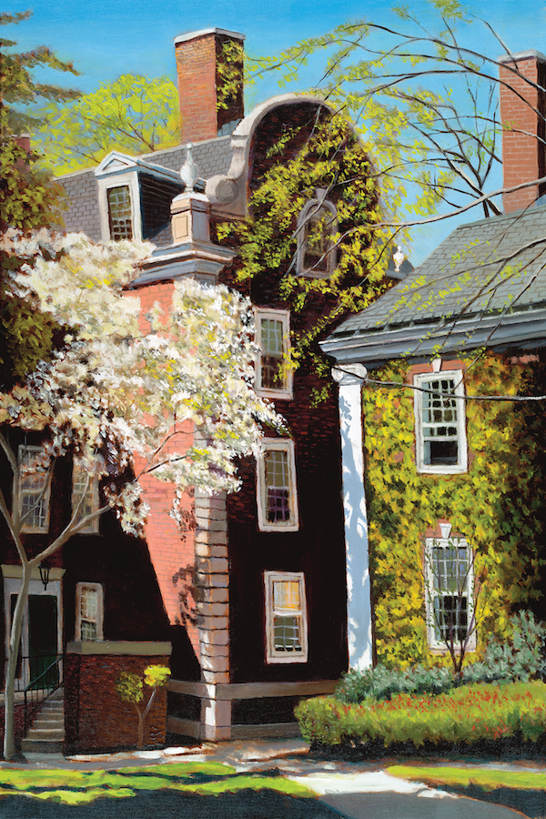 "The Quad at Harvard 36"" x 24"" Oil Retail $6,700  Online $4,700"