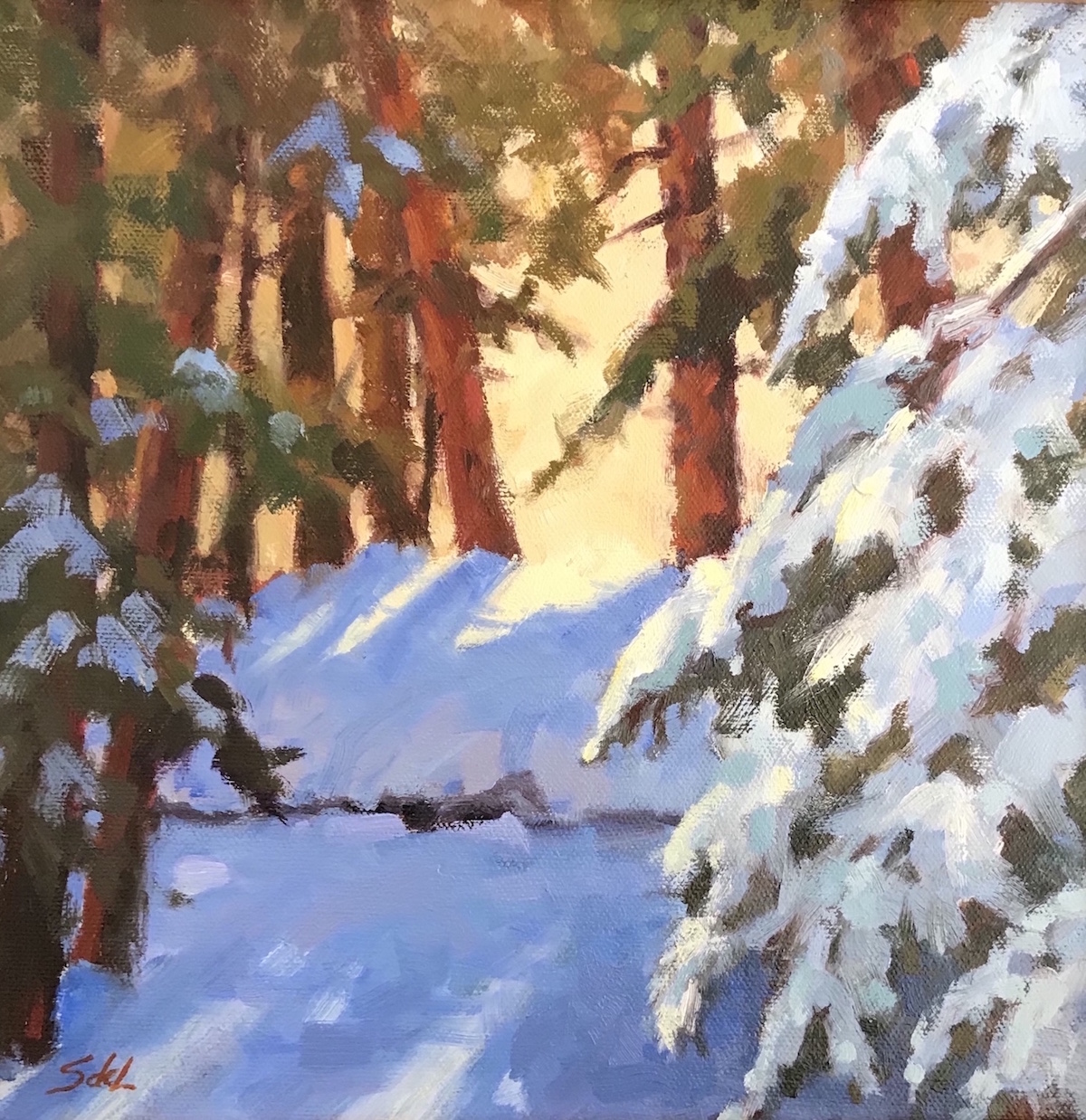 SDL Snow Laden 10_ x 10_ Oil $625