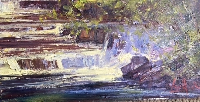 The Waterfall 8_ x 16_ Oil $950
