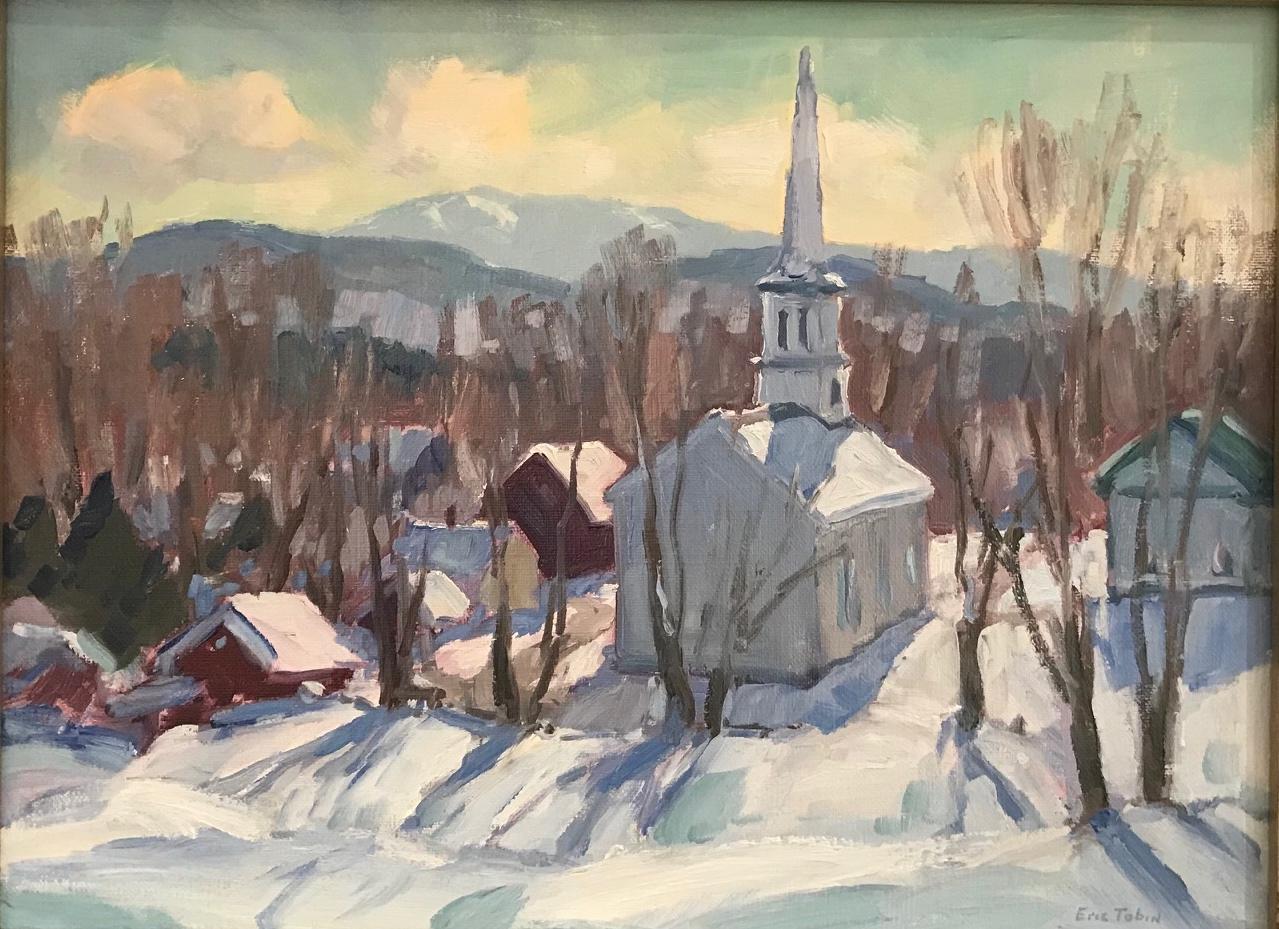 ET Spring Snow, Peacham 12_ x 16_ $1750.