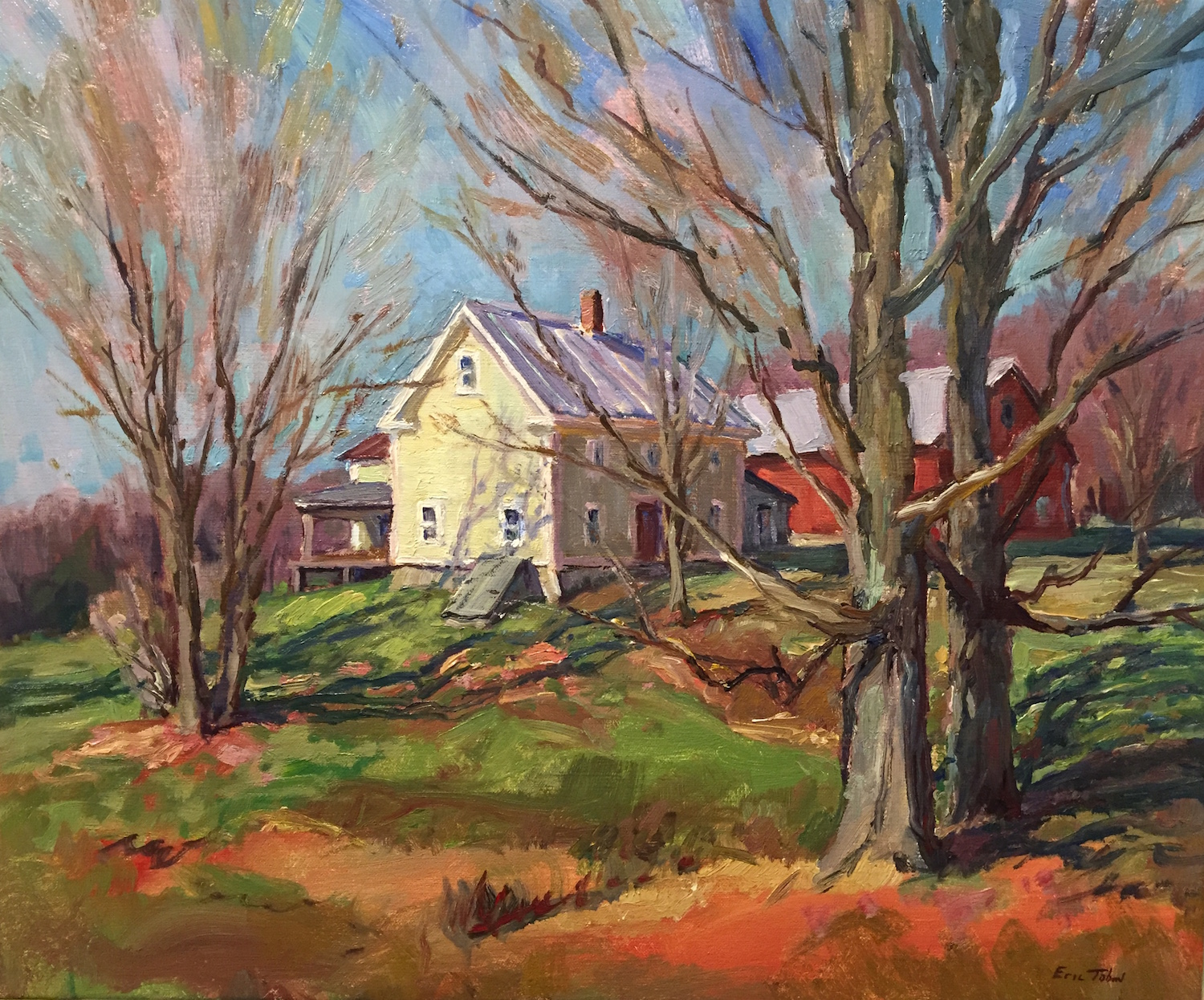 ET Vermont Farm 20_ x 24_ Oil $3600