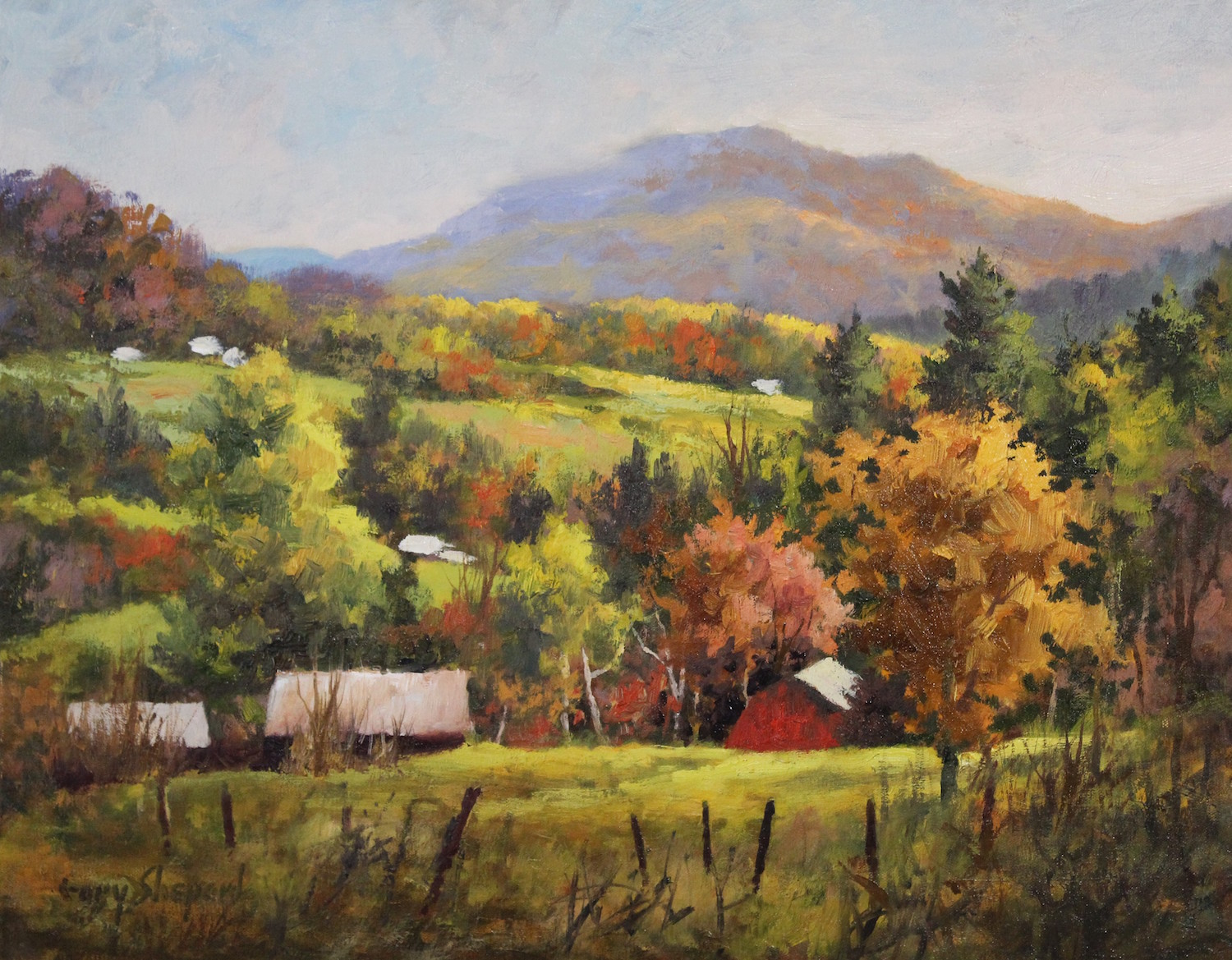 Ascutney Autumn 16_ x 20_ Oil $2600